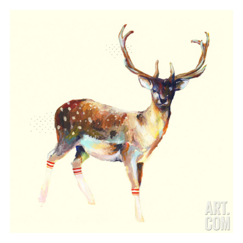 O meu favorito! Deer Wearing Socks